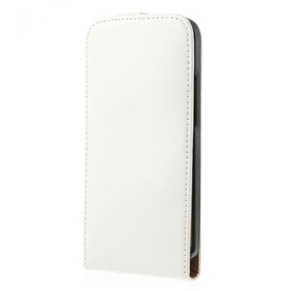 Äkta Läder Flip fodral till HTC One M8 (2014) - Vit