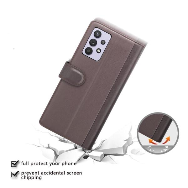 Äkta Läder Fodral till Galaxy A32 5G - Brun