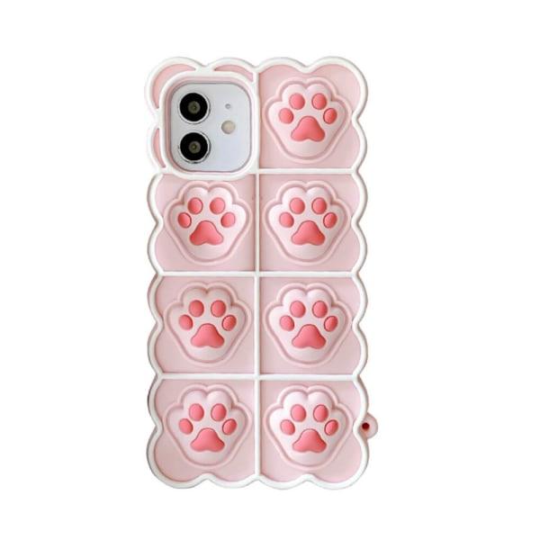 Puppy Paws Pop it Fidget -etui til iPhone 11 - Pink