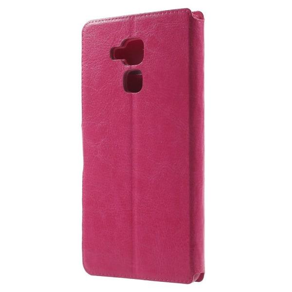 Bosilang Plånboksfodral till Huawei Honor 7 Lite - Rosa