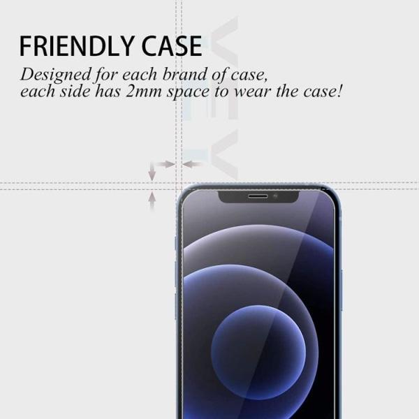 iPhone 12 Pro Max [4-PACK] 2 X Linsskydd Glas + 2 X Härdat glas