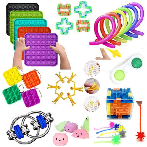 84 Pack Fidget Toy Set Pop it Sensory Toy för Vuxna & Barn multifärg