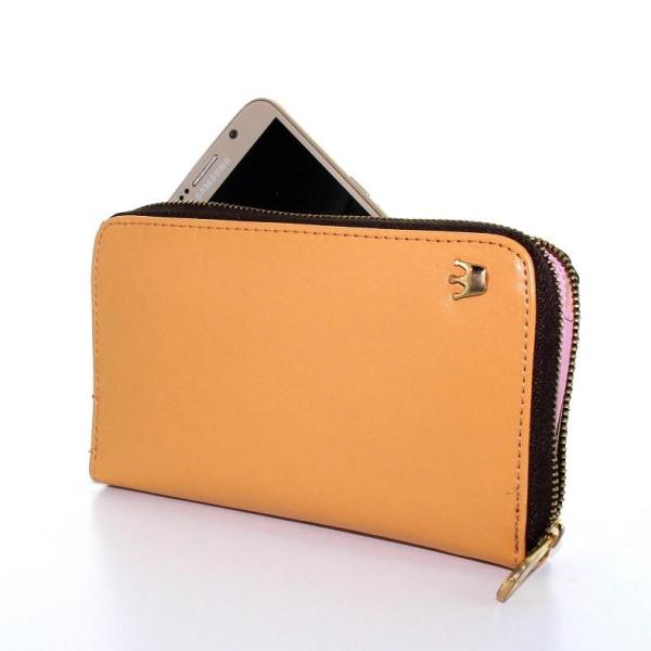 Crown Zip Universalt Plånboksfodral - Beige