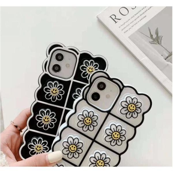 Smiley Flower Pop it Fidget -etui til iPhone 11 - Sort