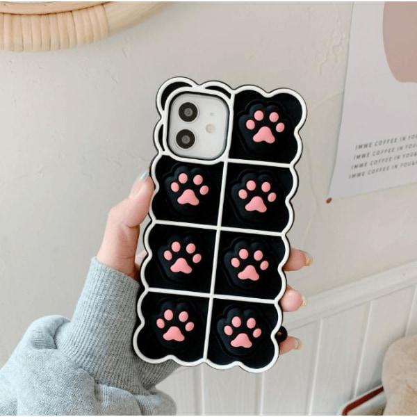 Puppy Paws Pop it Fidget -kotelo iPhone 11: lle - musta