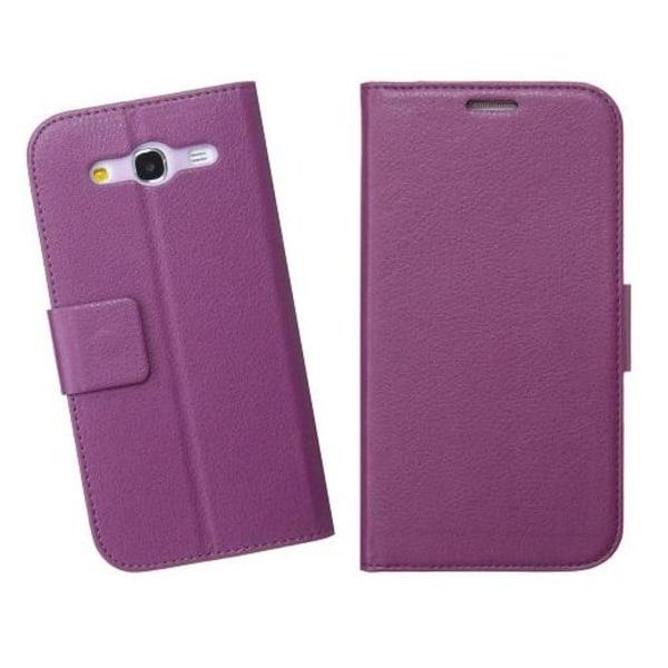 Embossed Plånboksfodral till Samsung Galaxy Mega 5.8 i9150 (Lila