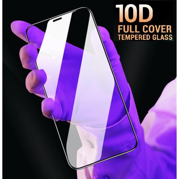 Heltäckande Härdat Glas iPhone/Samsung/Huawei (10D) Huawei P30 Pro