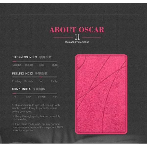 KLD Oscar II väska till Samsung Galaxy S4 i9500 (Magenta)