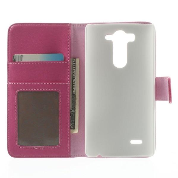 Lychee Embossed Plånboksfodral till LG G3 S - Magenta
