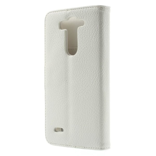 Lychee Embossed Plånboksfodral till LG G3 S - Vit