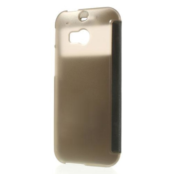 Mobilfodral med fönster till HTC One 2 M8 (2014) - (Svart)