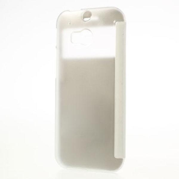 Mobilfodral med fönster till HTC One 2 M8 (2014) - (Vit)