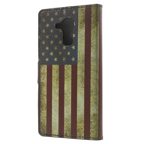 Plånboksfodral till Huawei Honor 7 Lite - Retro American Flag