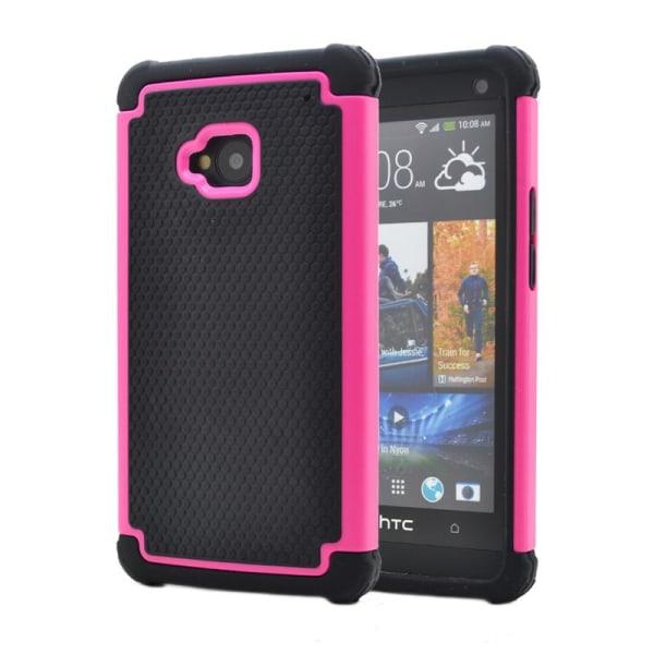Triple Combo Skal till HTC One (M7)  (Magenta)