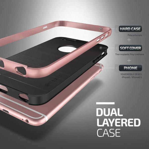 Verus High Pro Shield Skal till Apple iPhone 6/6S - Rose Gold