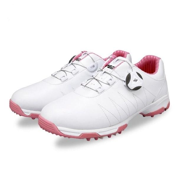 Vattentäta och halkskyddande golfskor Lace-up Pink 39