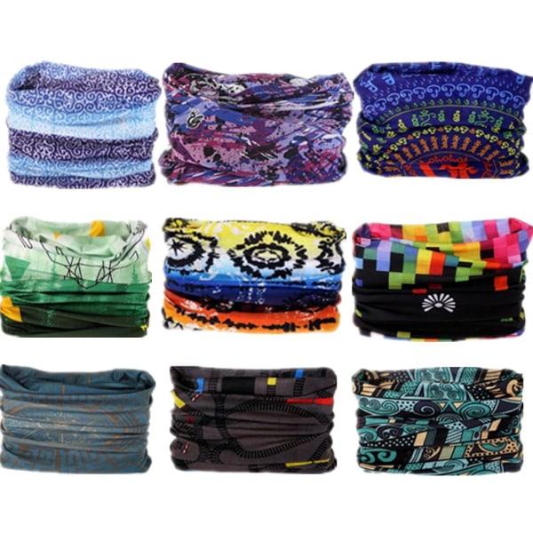 Mönster hijab bandana halsduk med sömlös halsformad form, 5002