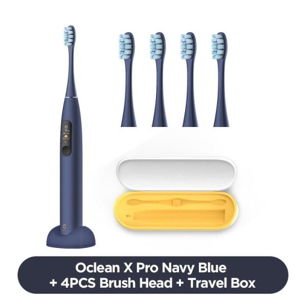 Elektrisk tandborste, vuxen, laddare, färg, pekskärm, snabb Blue n 4pcshdbox