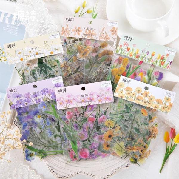 Härlig blommig dagbokklistermärke C