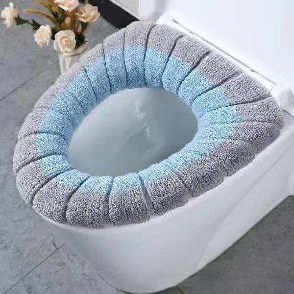 Tvättbara gemensamma nordiska toalettsitsdynor Beige Gray with hand
