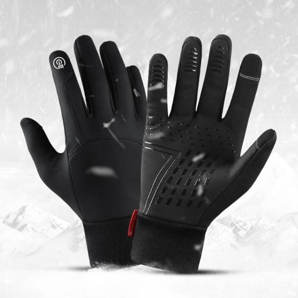 Kvinnor kallt väder svart läder pekskärm utomhus sport L