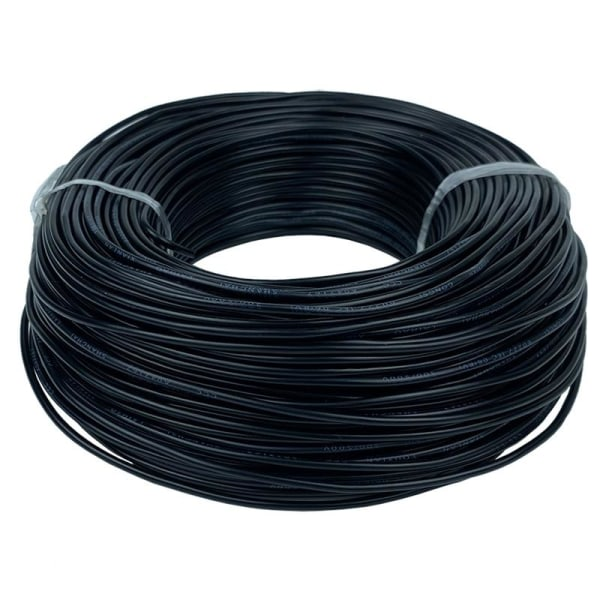 Standard kopparkabel svart elektrisk ledning Black 50m12 AWG - 4mm2