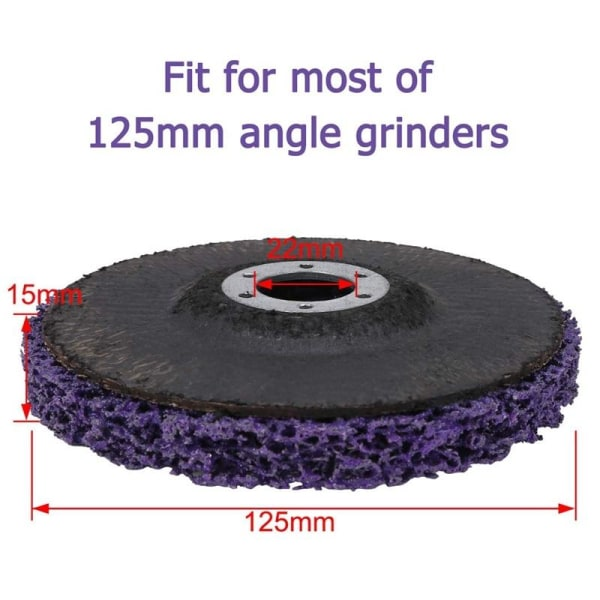 Slipande hjulslipare 125 mm poly-strip-skiva / hjul 125 mm