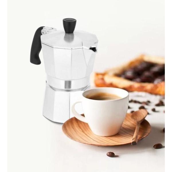Kaffebryggare i aluminium, hållbar maskin för mocka espresso 450ML FOR 9CUP