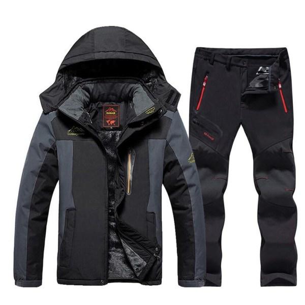 Vindtät vattentät tjockare varm vinter skid- / snowboardjacka Red  Jacket Asian XL  EUR  L
