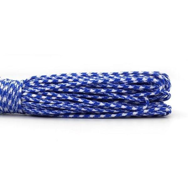Enstaka kärnor paracord rep för smycken Blue 50ft
