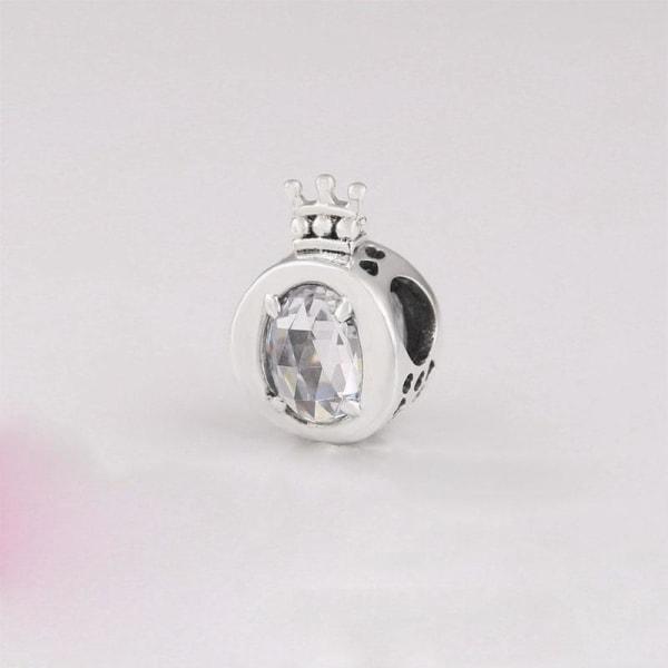 Silver pandora berlocker, pärlpassat armband B174-3