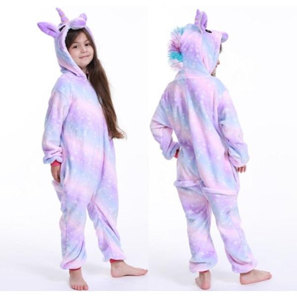 Unicorn pyjamas pojke romper tjej i ett stycke pyjamas tecknad XKL UNICORN 100-110cm