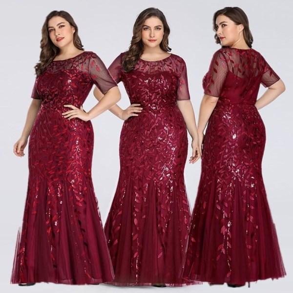 Aftonklänningar för kvinnor, bröllop gästklänningar Blue 6