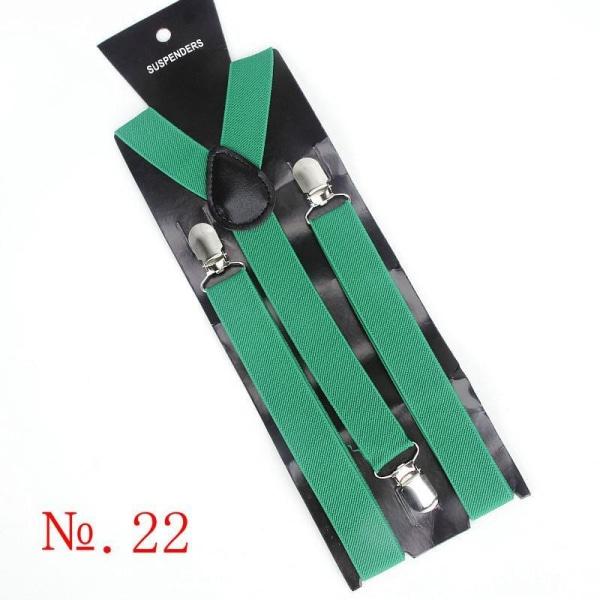 Hängslen i elastisk läder, herr i vintage, herrbyxor för 22