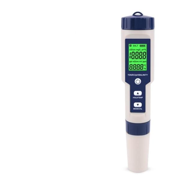 Ph meter salthalt s. g temperaturmätare med 5 IN 1