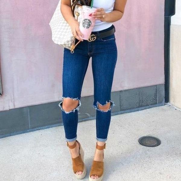 Slitna jeans jeans dark blue S