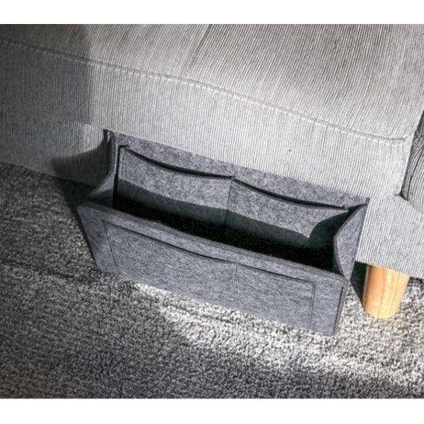 Sänghängande ficka förvaringsarrangör Black