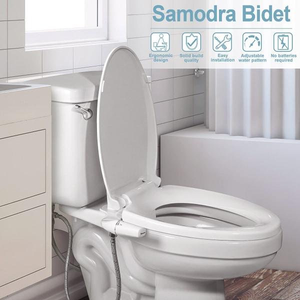 Bidéfäste ultratunn toalettstol dubbla munstycksspruta 7-8
