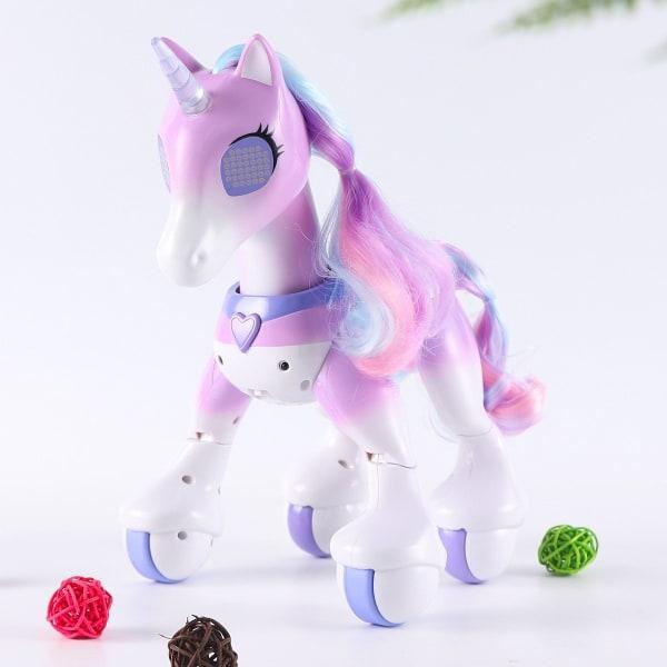 Häst enhörningar, robot söta djur, induktion fjärrkontroll, Purple