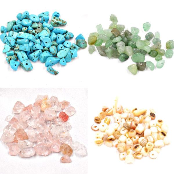 Freeform chip natursten pärlor oregelbunden form för diy 009