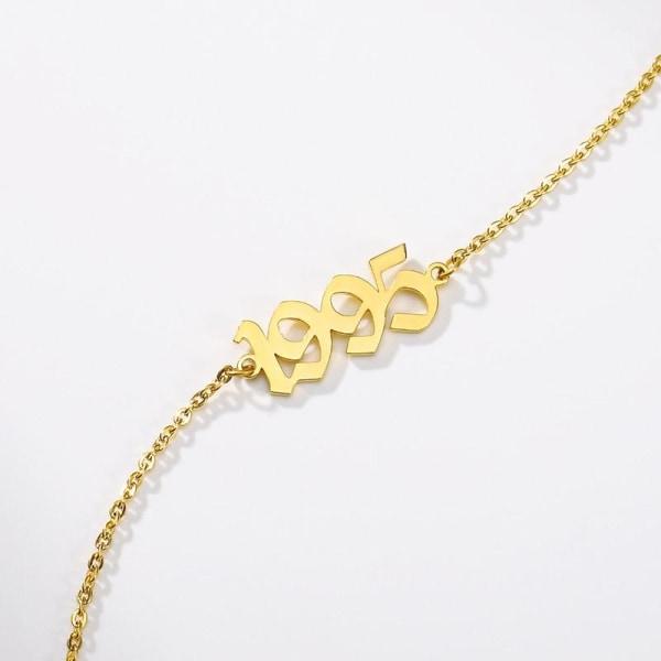 Guld anklet armband fot kedja Rose Gold Colour 21add10cm2007