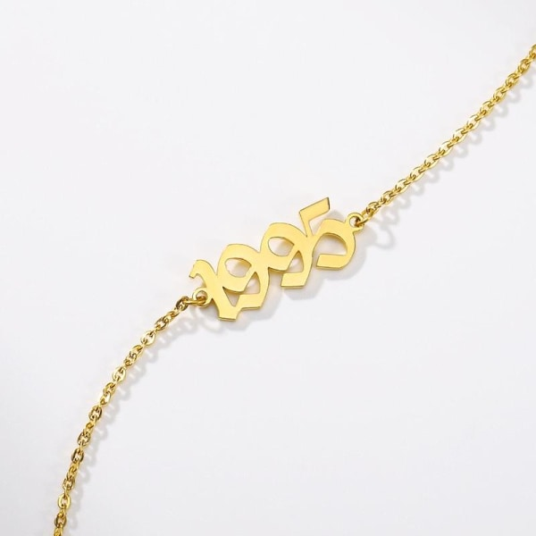 Guld anklet armband fot kedja Silver Colour 21add10cm2019