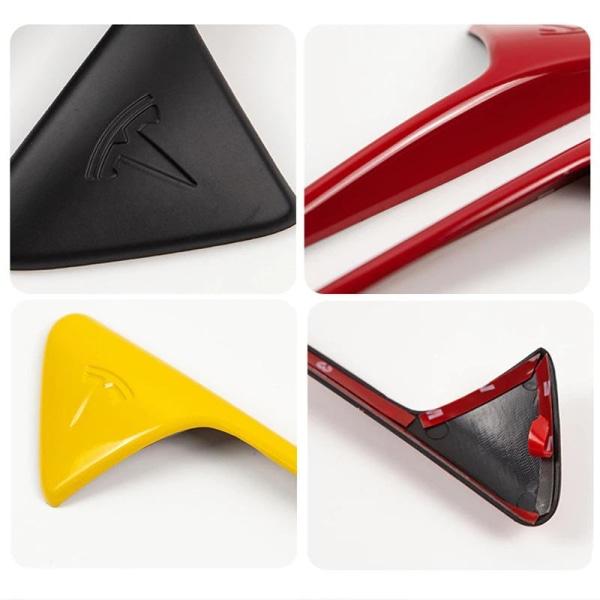 Sidokamera, skyddskåpa för tesla modell 3 - biltillbehör Matte black Logo