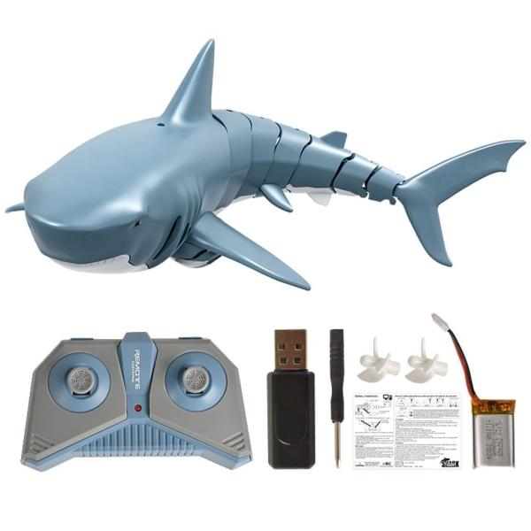 Fjärrkontroll haj-mini radio elektronisk leksak Blue