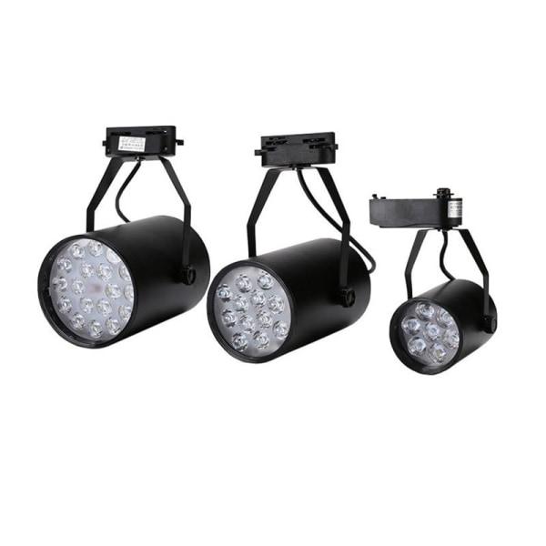 Högeffektiv spårljus 12W  Black shell