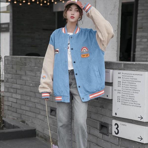 Kvinnors basebolluniform Blue L