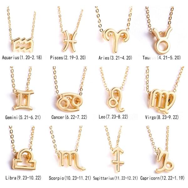 Guld kedja choker halsband för kvinnor smycken kartong Gold Color Virgo