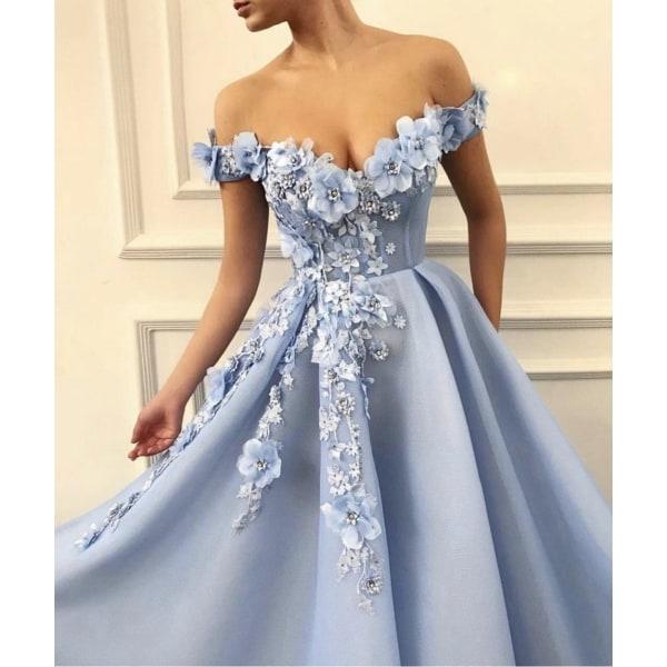 Kvinnor formella fest natt långa vestidos klänningar (set 1) Red 12