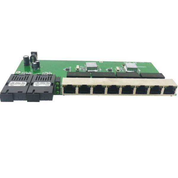 Gigabit ethernet switch ethernet fiber optisk media converter PCBA POWER supply