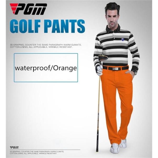 Pgm autentiska golfbyxor män vattentäta byxor mjuka andas orange XXL